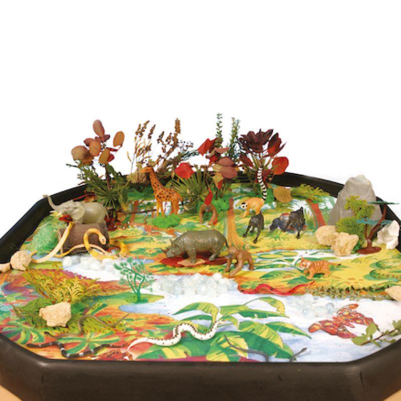 """Kilimėlis """"Džiunglės"""" tyrinėjimo staliukui"""