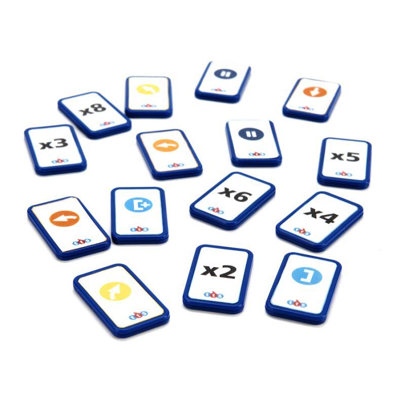 """Papildomų kortelių rinkinys """"Blue-Bot TacTile"""" skaitytuvui"""