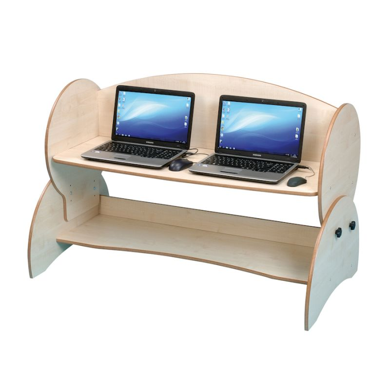 Dvivietis kompiuterių stalas