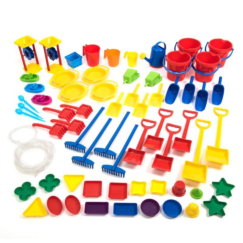 Smėlio ir vandens įrankių rinkinys (66 vnt.)