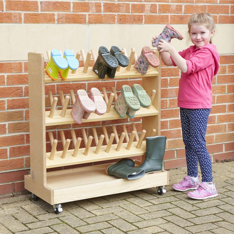 Medinė batų lentyna