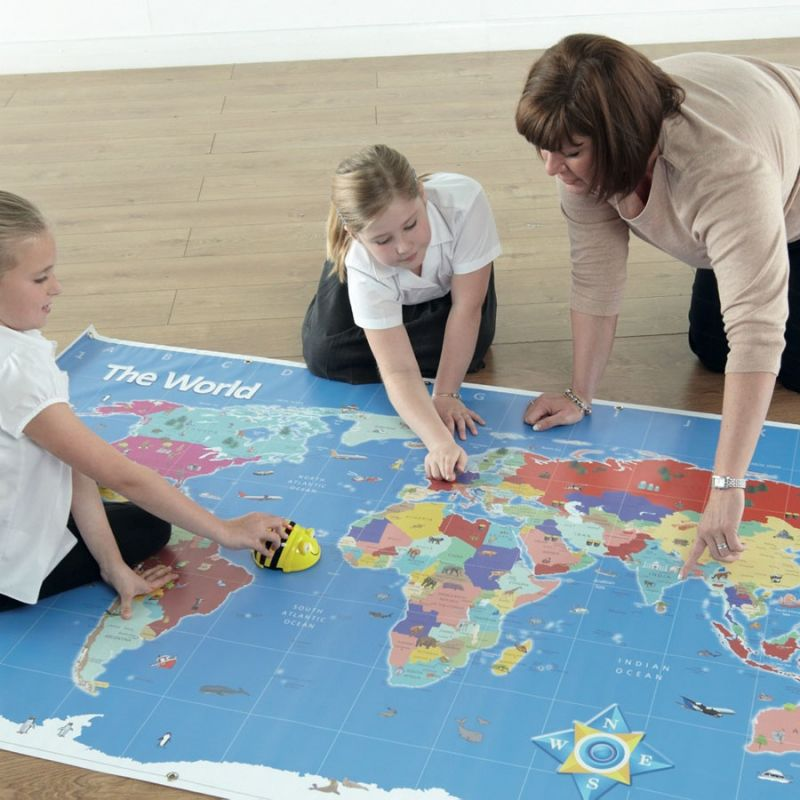 Pasaulio žemėlapio kilimėlis