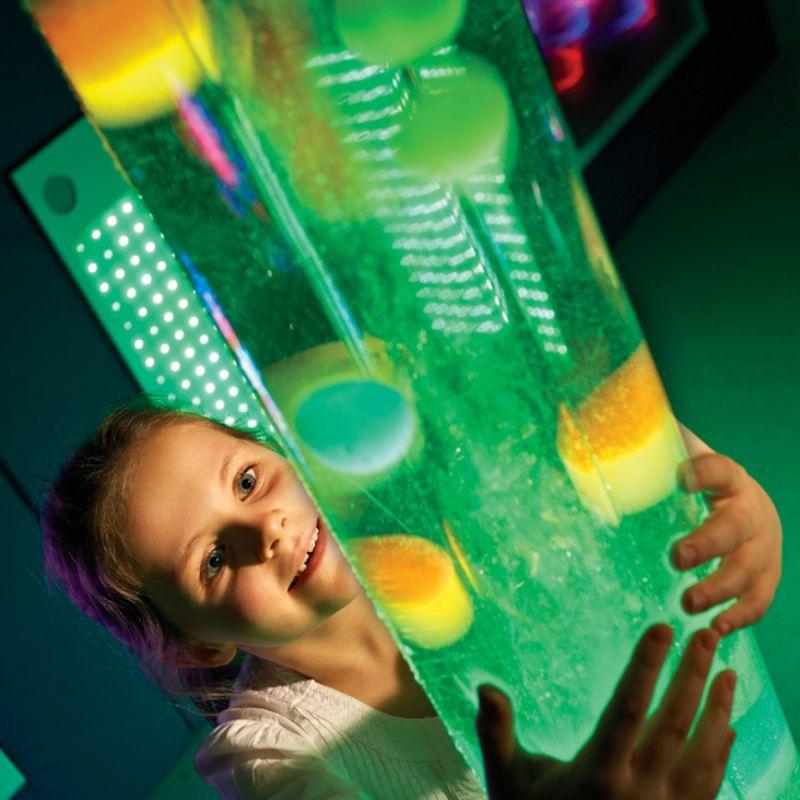 Burbulų vamzdis su kamuoliukais (1m)