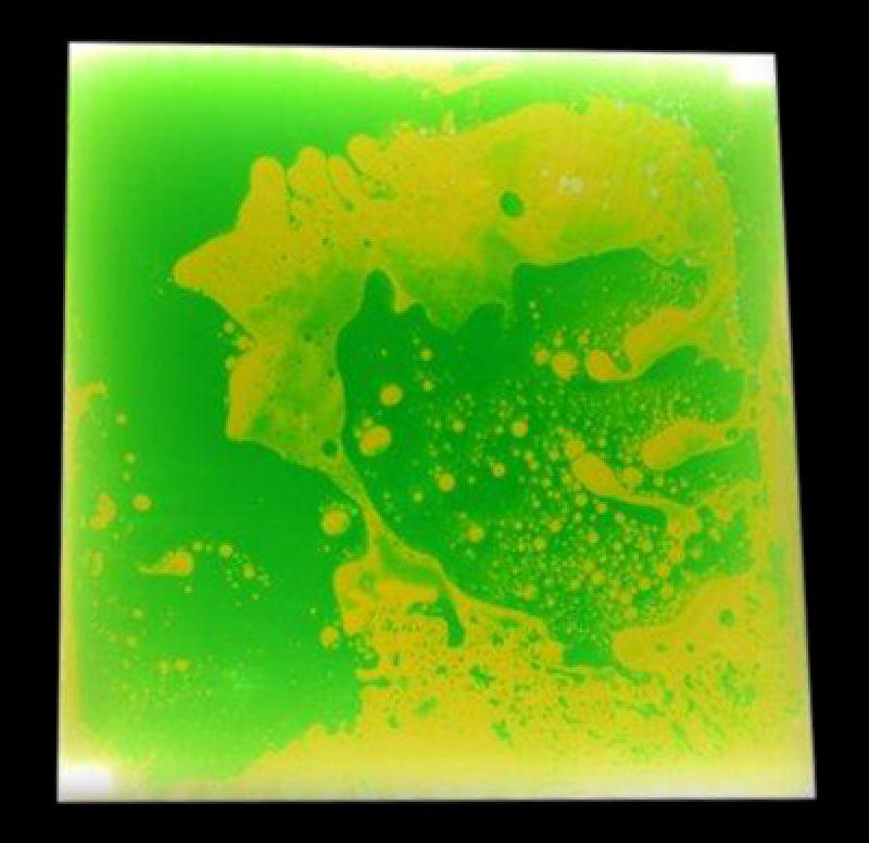 Šviečianti, sensorinė grindų plytelė (žalia/geltona)