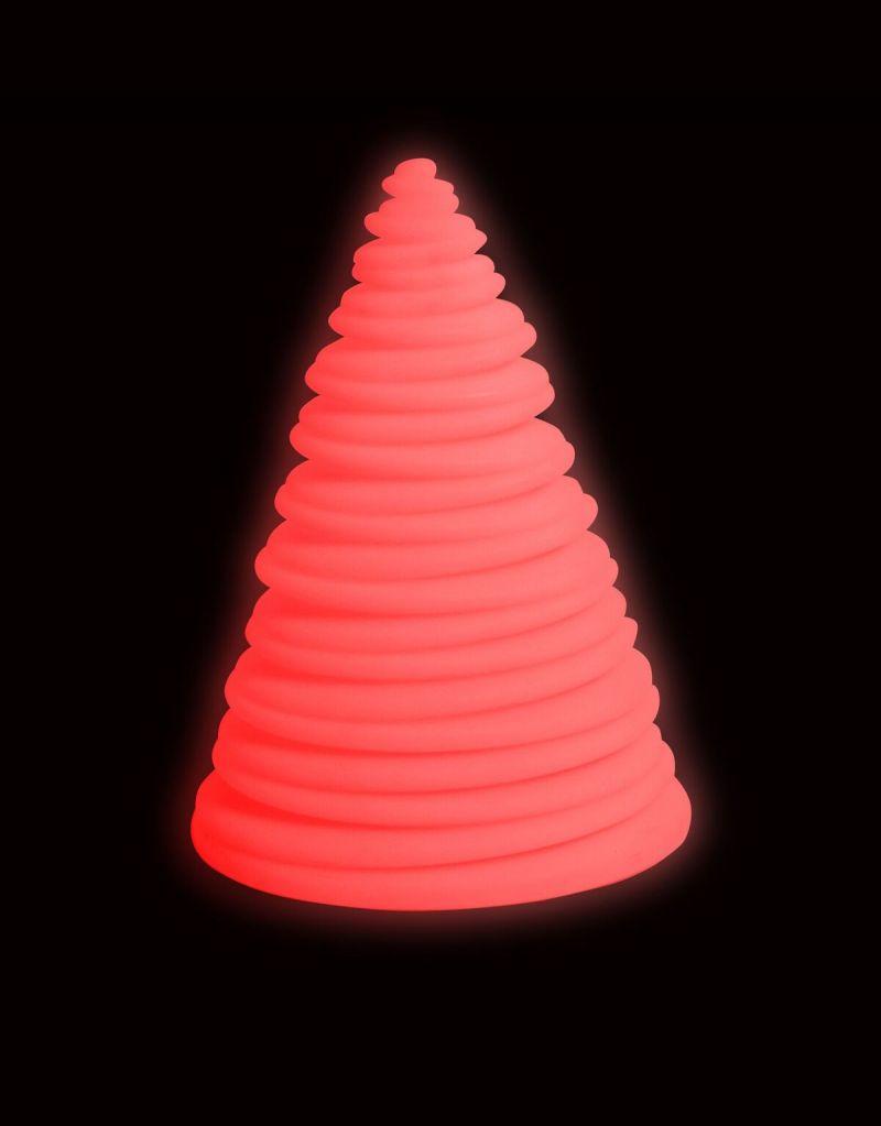 Spalvas keičianti piramidė (eglutė)
