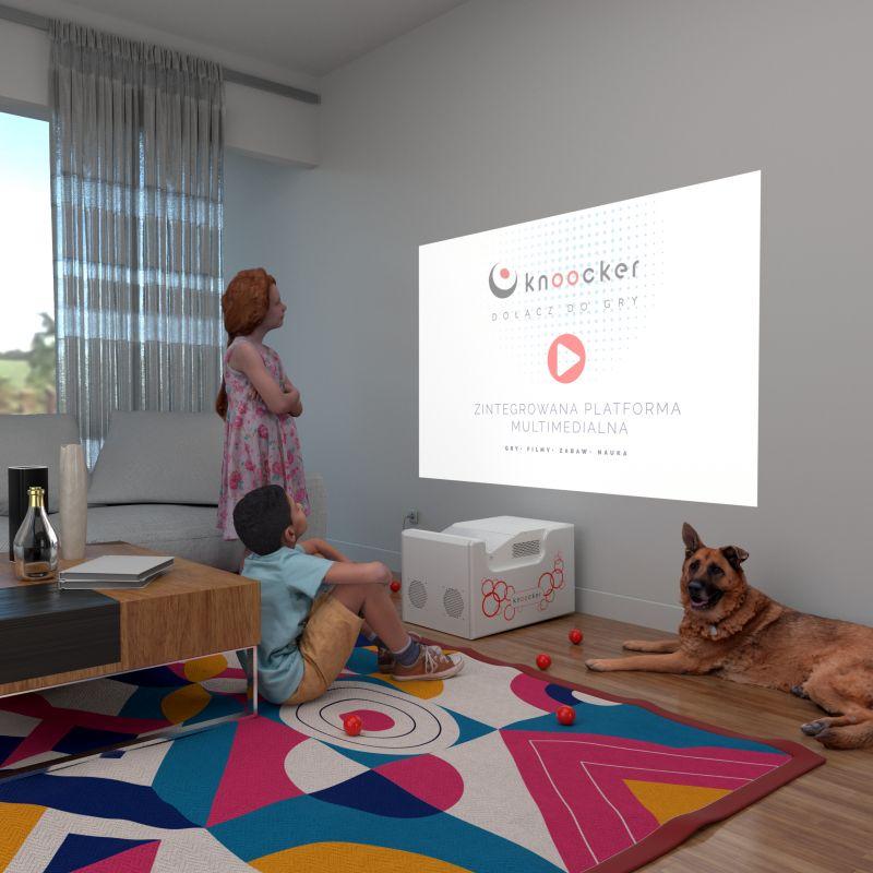 """""""Knoocker Box"""" interaktyvi siena"""