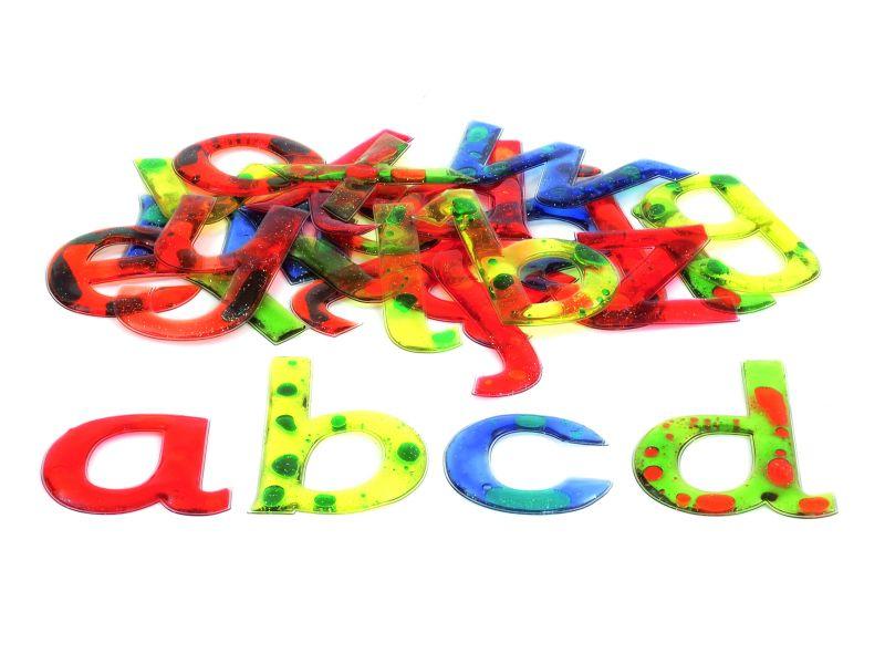 Silikoninių, mažųjų raidelių rinkinys