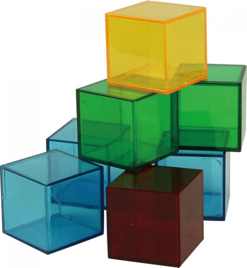 Skaidrių kubų komplektas (36 dalys)