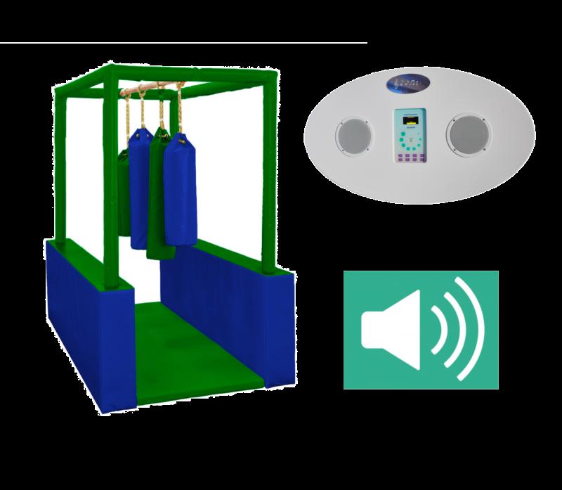 Sporto sala su integruota garso sistema